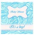 Baby-shower-wave-pattern-boy vector image