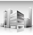 business skyscrapers city landscape downtown black vector image