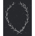 Hand drawn decorative laurel wreath Vintage design vector image