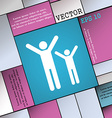 happy family icon sign Modern flat style for your vector image