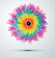 rainbow music flower vector image
