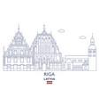 riga city skyline vector image
