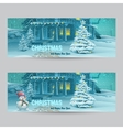 Set of horizontal banners with Christmas and New vector image