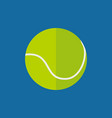 simple flat style tennis ball sport graphic vector image