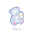 teddy bear baby vector image