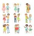 Teenager Couples In Love vector image