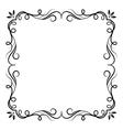 Vintage swirl frame vector image