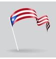 Puerto Rican wavy flag vector image