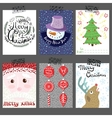 collection of Christmas poster templates vector image