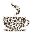 Abstract Cup Of Coffee vector image vector image