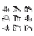 Different bridges in perspective vector image vector image