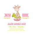 Baby Shower or Arrival Card - with Baby Giraffe vector image