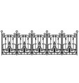 black forged fence vector image