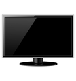 Black LCD TV vector image