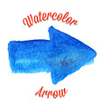 Blue watercolor arrow vector image