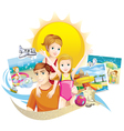 family summer vector image