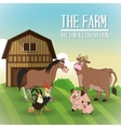 Farm animals cartoons vector image