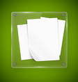 Glass framework and wood texture vector image