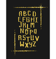 Golden glitter alphabet for holiday designs vector image