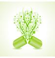 green hit-tech capsule design concept vector image