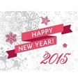 happy new yearr 2015 card vector image