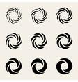 Nine Twisting Circes Logo Design Elements vector image