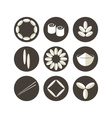 Rice Icon set vector image