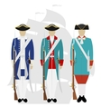 Russian navy soldiers vector image