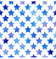 seamless pattern with watercolor stars vector image