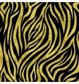 gold zebra pattern vector image