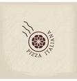 Pizzeria logo template vector image vector image