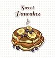 Pancakes With Banana vector image