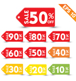 Sale stitch sticker price tag - - EPS10 vector image vector image