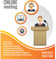 Business people meeting poster template vector image