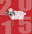 2015 sheep vector image