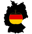German Apple vector image