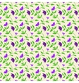 Spring style seamless background floral pattern vector image