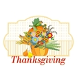 Pumpkin with autumn flowers vector image