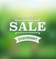 Summer Sale Poster With Bokeh vector image