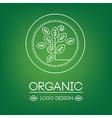 logo organic 03 vector image