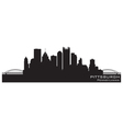 Pittsburgh Pennsylvania skyline Detailed silhouett vector image vector image