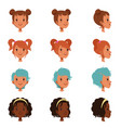 avatars of female faces with different haircuts vector image