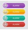 flat buttons alarm clock vector image