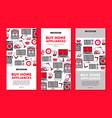 home appliance sale poster banner set vector image
