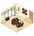 isometric business recruitment process template vector image