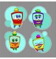 Kids trams set vector image
