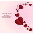 Love background with circles lines and hearts vector image