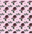 seamless pattern roses vector image