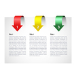 Three step information card vector image
