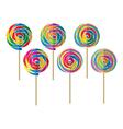 colorful lollipop vector image